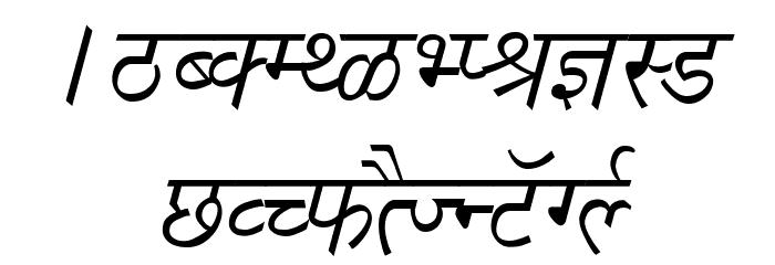 Richa Italic फ़ॉन्ट अपरकेस