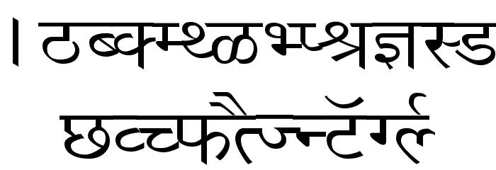 Richa Wide フォント 大文字