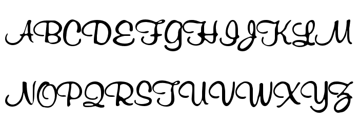RichardMurray Font UPPERCASE