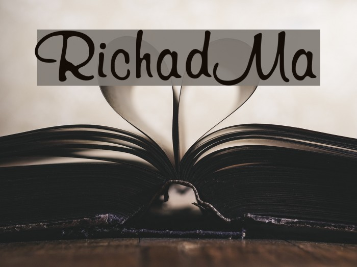 RichardMurray Font examples