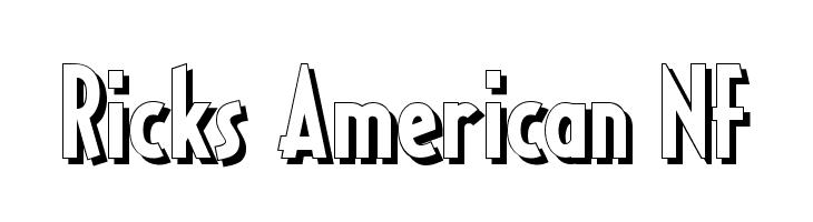 Ricks American NF  les polices de caractères gratuit télécharger