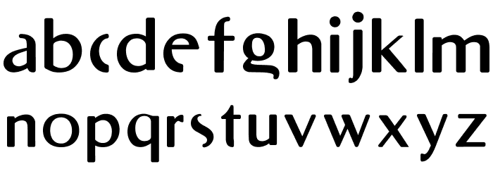 RighOn Bold Font LOWERCASE