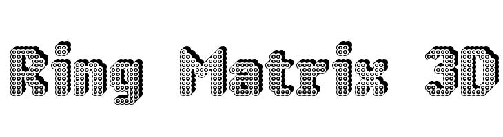 Ring Matrix 3D  Fuentes Gratis Descargar