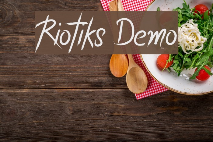 Riotiks Demo Font examples