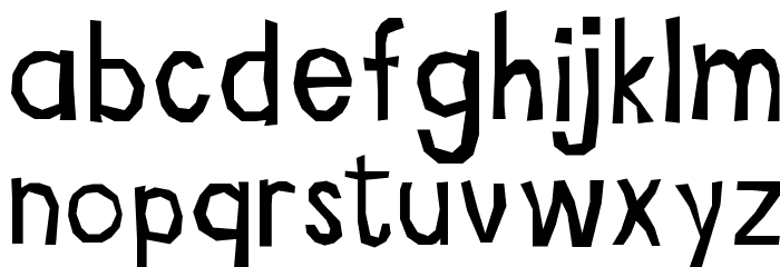Ritaglio Font Litere mici