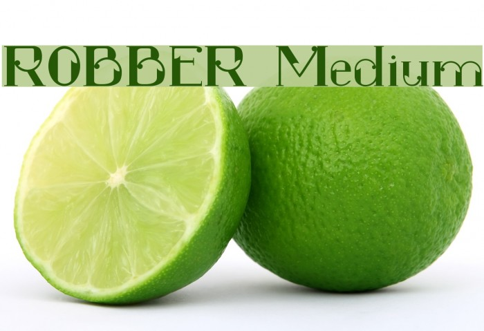 ROBBER Medium फ़ॉन्ट examples