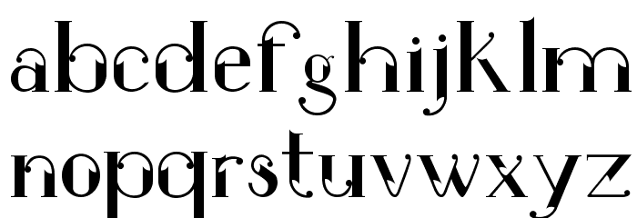 ROBBER Medium Font LOWERCASE