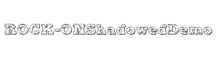 ROCK-ON Shadowed Demo  baixar fontes gratis