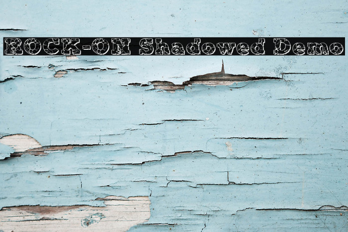 ROCK-ON Shadowed Demo Fonte examples