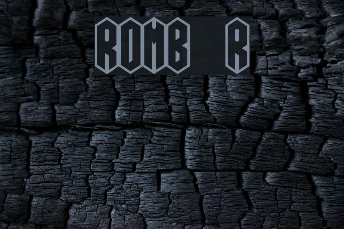 ROMB Regular Font examples