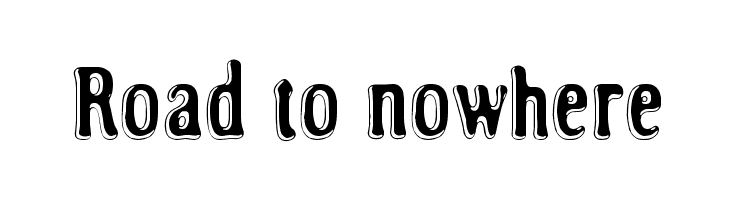 Road to nowhere  Free Fonts Download
