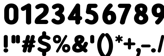 Robaga Rounded Black Шрифта ДРУГИЕ символов