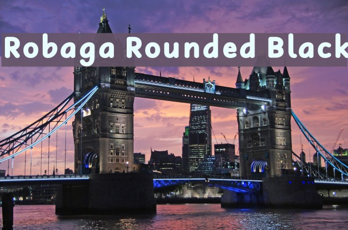 Robaga Rounded Black Шрифта examples