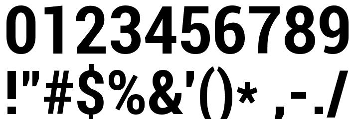 Roboto Bold Condensed Font OTHER CHARS