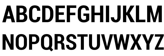 Roboto Bold Condensed Font UPPERCASE