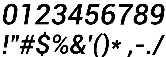 Roboto Medium Italic Font OTHER CHARS