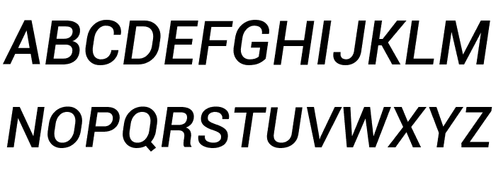 Roboto Medium Italic Font UPPERCASE