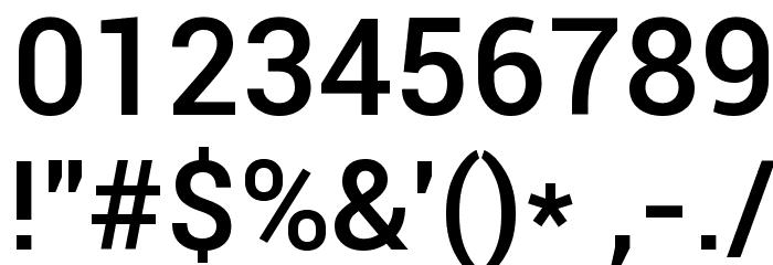 Roboto Medium Font OTHER CHARS