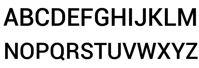 Roboto Medium Font UPPERCASE