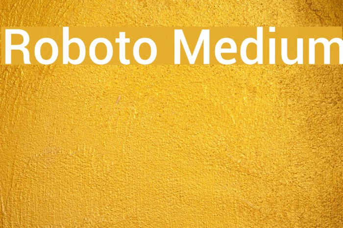 Roboto Medium Font examples