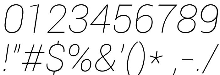 Roboto Thin Italic Шрифта ДРУГИЕ символов