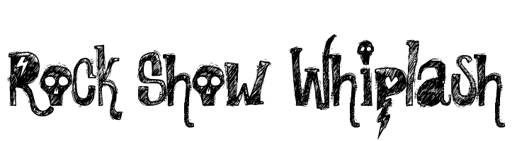 Rock Show Whiplash  font caratteri gratis
