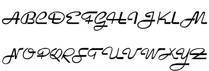 Rockabilly Font UPPERCASE