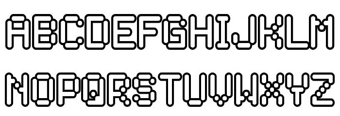 Rocketman Font LOWERCASE