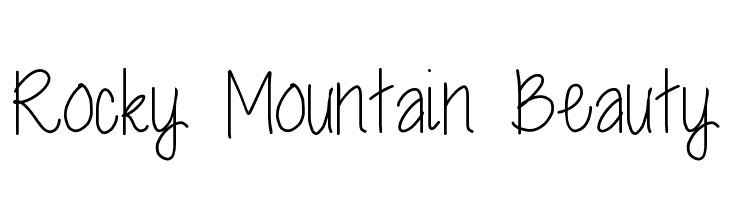 Rocky Mountain Beauty  Free Fonts Download
