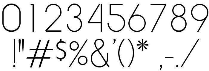 RockyThinOpti Font OTHER CHARS