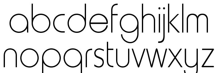 RockyThinOpti Font LOWERCASE