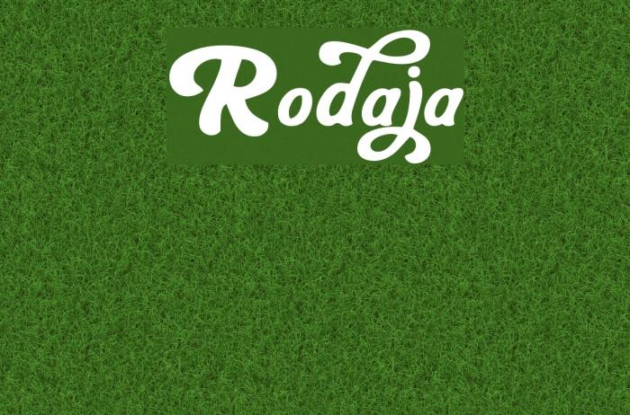 Rodaja फ़ॉन्ट examples