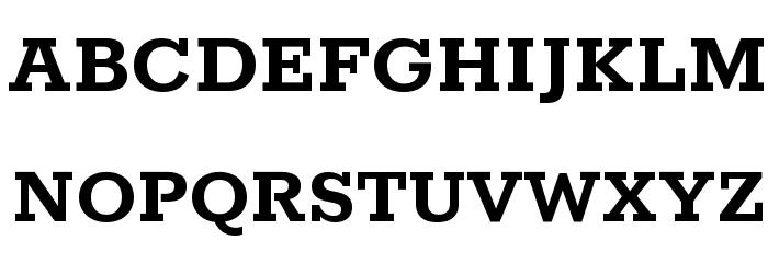 Rokkitt Bold Font Litere mari