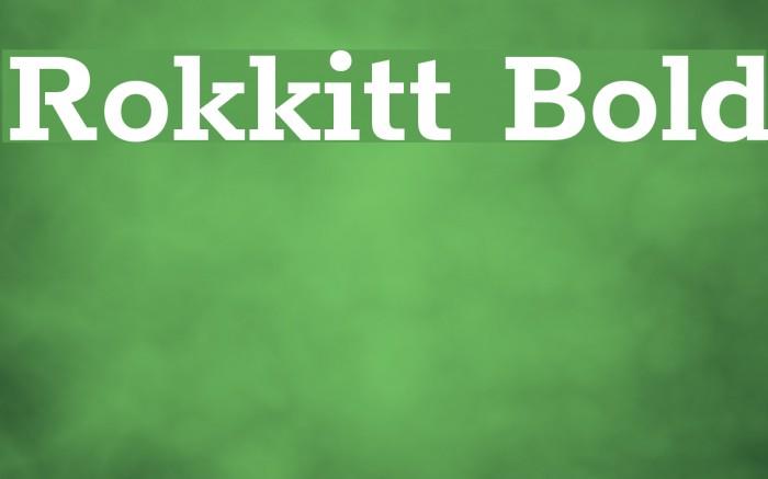 Rokkitt Bold Font examples
