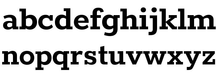 Rokkitt Bold Font Litere mici