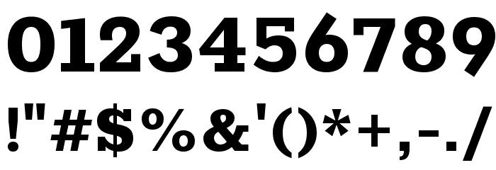 Rokkitt ExtraBold Font OTHER CHARS