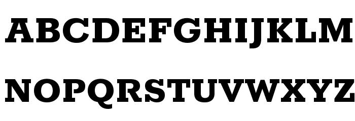 Rokkitt ExtraBold Font UPPERCASE