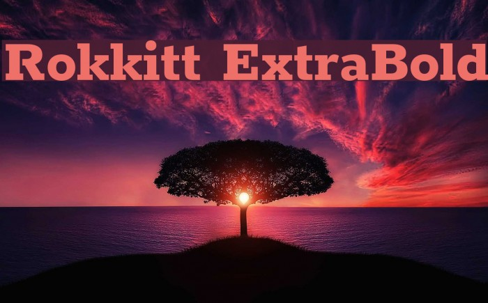 Rokkitt ExtraBold Font examples