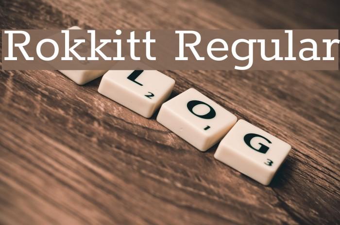 Rokkitt Regular Font examples