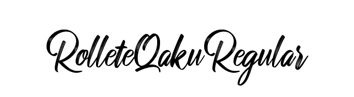 RolleteQaku-Regular  Free Fonts Download