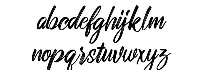 RolleteQaku-Regular Font LOWERCASE