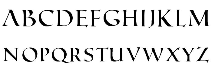 Roman SD Font LOWERCASE