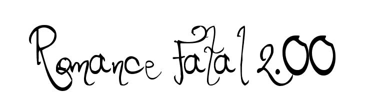 Romance Fatal 2.00  Fuentes Gratis Descargar