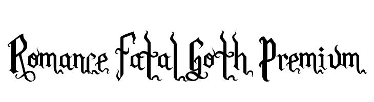 Romance Fatal Goth Premium  Fuentes Gratis Descargar
