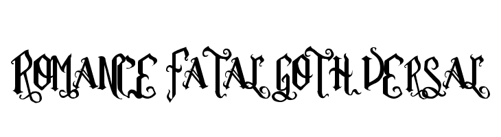 Romance Fatal Goth Versal  Fuentes Gratis Descargar