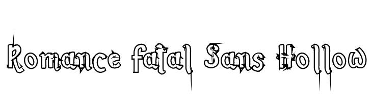 Romance Fatal Sans Hollow  Fuentes Gratis Descargar