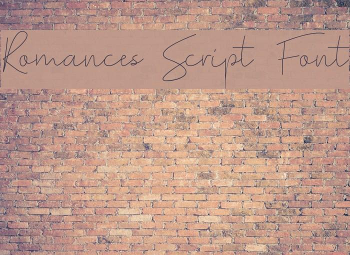 Romances Script Font Polices examples