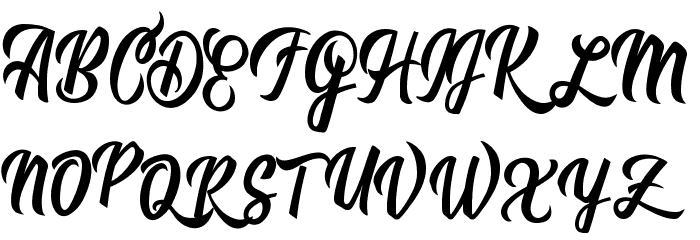 Romantica Personal Use  Font UPPERCASE
