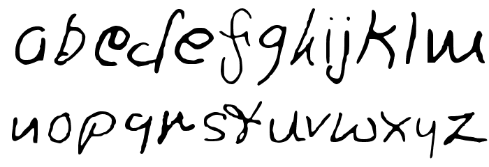 Ron's Font Font LOWERCASE