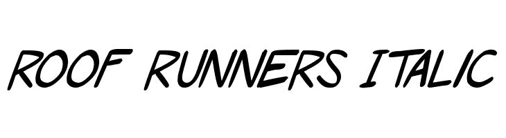 Roof runners Italic  नि: शुल्क फ़ॉन्ट्स डाउनलोड